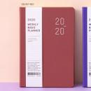 Velvet red - Ardium 2020 Basic dated weekly diary planner