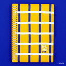 Yellow - Romane 2020 Eat play work 365 dated daily diary planner
