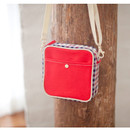 Red color - Daily check cross bag