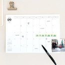 Usage example - gyou 2020 A tous moments dated monthly desk planner sheets