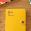 Yellow - Monopoly 2020 Smiley dated daily diary with tray