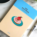 Peach tart - Design Comma-B 2020 Sweet dessert dated weekly diary planner