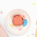 Peach - Bear basic AirPods case silicone cover