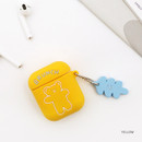 Yellow - Bear basic AirPods case silicone cover