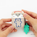 Light gray - Bear basic AirPods case silicone cover