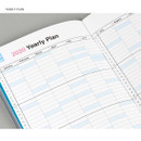 Yearly plan - Chachap 2020 Note dated monthly planner scheduler