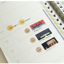 Usage example - Dailylike Los Angeles masking seal paper deco sticker set