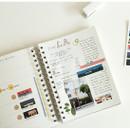 Usage example - Dailylike Los Angeles masking seal paper deco sticker set