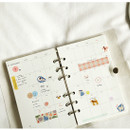 Usage example - Dailylike Friends masking seal paper deco sticker set