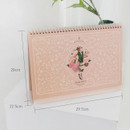Size of 2020 Anne story dated monthly desk scheduler planner