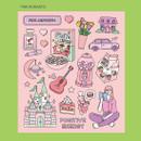 Pink romantic - Ardium Pop illustration colorful point paper sticker ver3