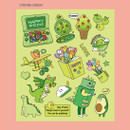 Strong green - Ardium Pop illustration colorful point paper sticker ver3
