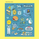 Beautiful blue - Ardium Pop illustration colorful point paper sticker ver3