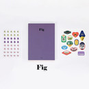 Fig - GMZ 2020 Fruit dated monthly journal diary with sticker