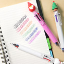 6 colors - 2young Christmas 6 colors 0.7mm ballpoint multi pen