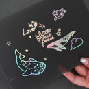 PLEPLE Coated hologram clear decoration sticker