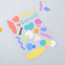 Yellow - PLEPLE Point up removable paper sticker