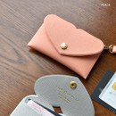 Peach - Play Obje Lovely heart pocket card case holder with strap