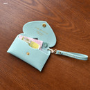 Mint - Play Obje Lovely heart pocket card case holder with strap
