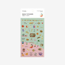 Package of rDailylike Daily transparent deco cute sticker - Good morning