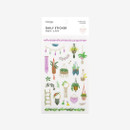 Dailylike Daily transparent deco cute sticker - Macrame