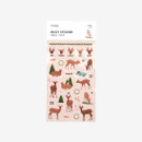 Package for Daily transparent deco cute sticker - Deer