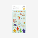 Package for Daily transparent deco cute sticker - Jelly bear
