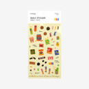 Package for Daily transparent deco cute sticker - Snack