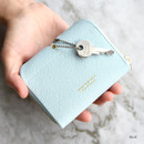 Blue - Play Obje Lovely heart PU zipper and snap button wallet