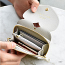 Gray - Play Obje Lovely heart PU zipper and snap button wallet