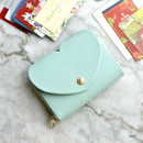 Mint - Play Obje Lovely heart PU zipper and snap button wallet