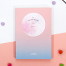 Pink-Aqua - Second Mansion Moon shine dateless weekly diary planner