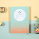 Mint-Orange - Second Mansion Moon shine dateless weekly diary planner