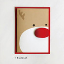 Rudolph - DBD Cute Christmas card with envelope