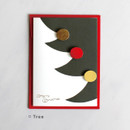 Tree - DBD Cute Christmas card with envelope