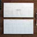 DBD Moment dateless weekly checklist desk planner pad