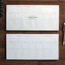 DBD Moment dateless weekly checklist desk planner pad