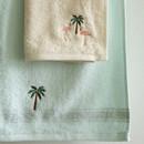 Dailylike Embroidery cotton hand towel set - Flamingo
