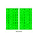 Neon green - After The Rain 8-bit alphabet paper sticker set