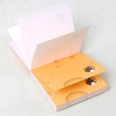 Easy to tear out - Chachap Cheese 100 sheets notes writing memopad
