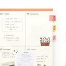 Index pattern usage example - Monopoly Satin deco index sticker