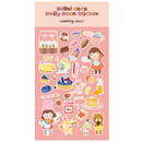 Pink - Cooking class - Ardium Hello coco removable daily deco sticker