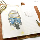 Free note(blank/lined) - O-CHECK Travel planner journal notebook