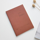 Red - O-CHECK Le cahier bonne pensee medium dot notebook