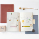 Usage example - O-CHECK Le cahier bonne pensee medium dot notebook