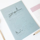 Sky - O-CHECK Bonne Pensee A5 size medium lined notebook