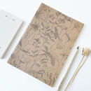 Leaf (kraft) - O-CHECK Bonne Pensee A5 size medium lined notebook