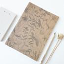 Leaf (kraft) - O-CHECK Bonne Pensee A5 size medium lined notebook