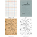 Option - O-CHECK Bonne Pensee A5 size medium lined notebook