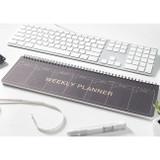 Dark - 2young Wirebound kraft long dateless weekly desk planner